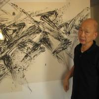 Hotel room walls serve as canvas for Takenouchi's contemporary art