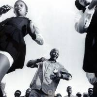 Dance of freedom: Nelson Mandela , the former political prisoner who became the first black president of post-apartheid South Africa, dances with girls at a 1994 rally in Natal, South Africa.  | THE WASHINGTON POST