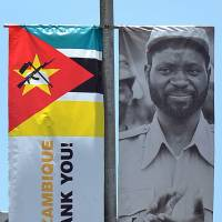 Symbol of strength: A bayoneted version of the AK-47 is on the Mozambique flag. | AFP-JIJI