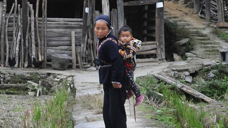 Generation gap: In the village of Zhaishi in Tongdao County, China, it is common to see only children and old people, as parents have migrated to towns for work.