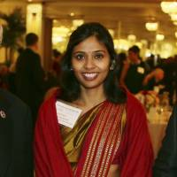 Diplomatic tangle: Devyani Khobragade attends a New York fundraiser Dec. 8. | AP