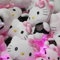 Pick of the litter: Hello Kitty soft toys are seen inside a claw crane game at a Sanrio Co. event in Omotesando Hills in Tokyo on June 29, 2011. | BLOOMBERG