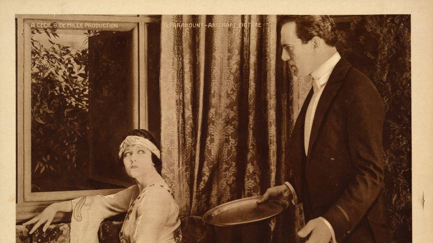 Quiet treasure: This undated handout image provided by the Library of Congress shows a scene from Cecil B. DeMille's silent film 'Male and Female.'