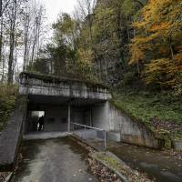 Bunker mentality: The entrance of the Deltalis Swiss Mountain Data Center is seen near Attinghausen, Switzerland. | AFP-JIJI