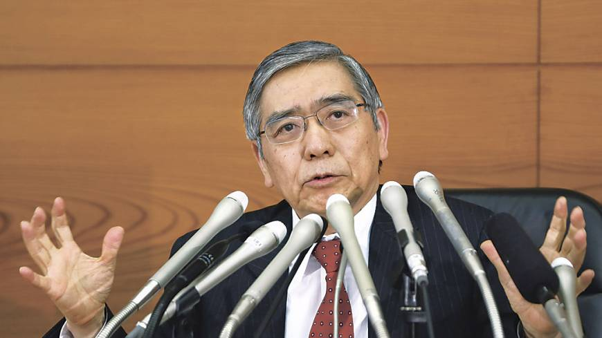 Anti-deflationary: Bank of Japan Gov. Haruhiko Kuroda on April 4 begins his campaign to end 15 years of falling prices by doubling monthly bond purchases.
