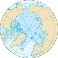 The Arctic Ocean and North Pole  | CIA WORLD FACTBOOK/WIKIMEDIA COMMONS