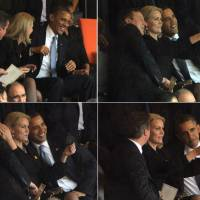 British, Danish leaders laugh off 'selfie' at Mandela memorial