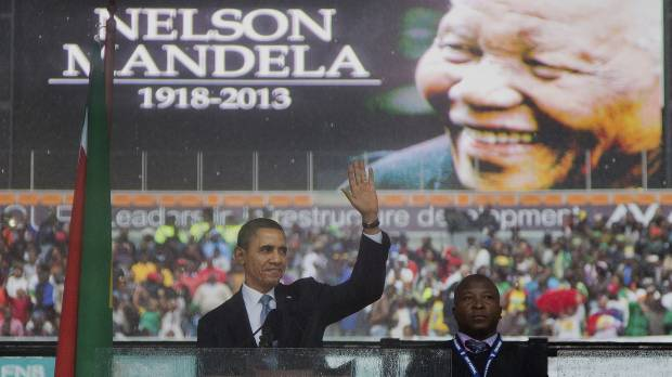 Obama hails Mandela as 'last great liberator'