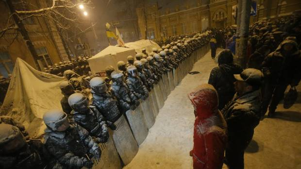 Riot police storm opposition offices in Ukraine as protests continue