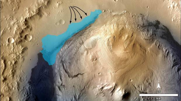 Ancient Martian lake may have supported life