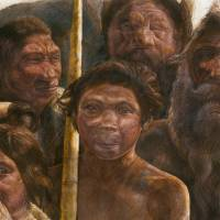Old relations: This illustration provided by Madrid Scientific Films shows Sima de los Huesos hominins who are estimated to have lived approximately 400,000 years ago during the Middle Pleistocene. | AP
