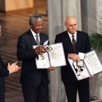 Mandela was urged to refuse Nobel peace prize 20 years ago
