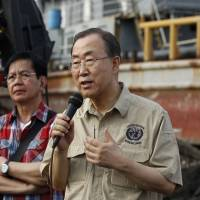 U.N. chief Ban visits typhoon-hit Philippines