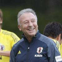 Keep them guessing: National team manager Alberto Zaccheroni has hinted there may be some unexpected names in his 23-man squad for the 2014 World Cup in Brazil. | KYODO