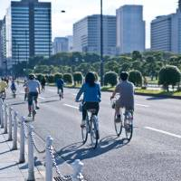 Healthy choice: Riding bicycles is one easy way to maintain an active lifestyle. The Tokyo Yaseu Festa will showcase other methods of staying fit. | KYODO