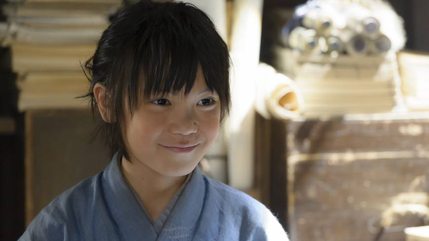 My life story: Child actor Kirato Wakayama plays the young Kuroda Kanbei in this year's NHK taiga drama, 'Gunshi Kanbei (Strategist Kanbei).' The series will start from Jan. 5 and continue all year.