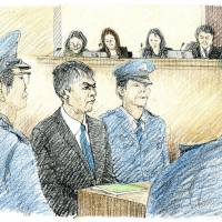 Facing up to his crimes: Makoto Hirata appeared before Tokyo District Court on Thursday. | KYODO