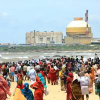 Nuclear nation?: Indians gather on the southern coast to protest against the operation of the Kudankulam nuclear power plant in September 2012.