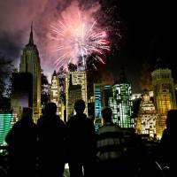 Revelers kick off 2014 with a boom