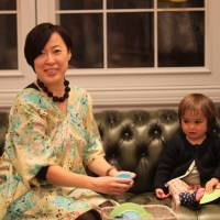 Shibuya sanctuary: Oko Ishii opened Tokyo's Bonheur de Sakura with friend Sachiko Michishita as a place where parents can take their children to relax in a sophisticated atmosphere. The writer's 1-year-old daughter seems to be enjoying it too. | DANIELLE DEMETRIOU