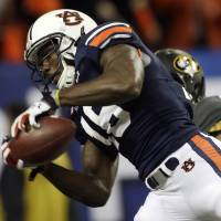 Eye of the Tiger: Auburn receiver Sammie Coates and the rest of the Tigers are hoping to upset the top-ranked Florida State Seminoles in the BCS title game. | AP