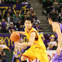 Strange choice: Fans selected Kyoto's Hikaru Kusaka, seen in a file photo, as an All-Star starting guard despite the fact he doesn't play major minutes for his team. | KAZ NAGATSUKA