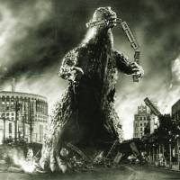 Monster on the loose: Godzilla destroyed much of Tokyo during its rampage through the capital in the original 1954 movie. | KYODO