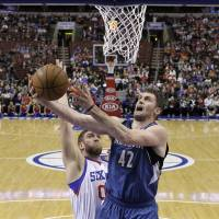 T-Wolves use 3-point shooting barrage to blast 76ers