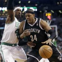 Garnett, Pierce win in return to Boston