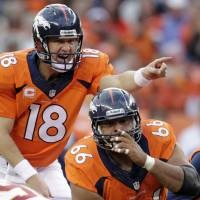 Omaha, Omaha: Peyton Manning is hoping to make the right calls against the Seahawks on Sunday to become the first starting quarterback to win titles with two different teams. | AP