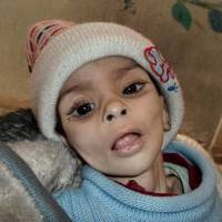 Final days: A baby who later died of a hunger-related illness on Saturday is seen in this undated photo in the Palestinian neighborhood of Yarmouk in the Syrian capital of Damascus. | AP