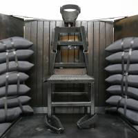 Crude but effective: The Utah State Prison's firing squad execution chamber in Draper is seen in June 2010. With lethal-injection drugs in short supply and new questions looming about their effectiveness, lawmakers in some states are considering bringing back relics of a more gruesome past, including firing squads. | AP