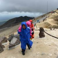South Koreans trek to sacred peak