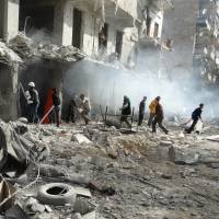 Assad razing entire districts