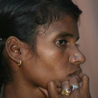 Sacred right: Villager Phulme Majhi attends a news conference in New Delhi in August 2007 to highlight the environmental impact on her village of Lanjigrah by a proposed bauxite mining project by the British company Vedanta. | AFP-JIJI