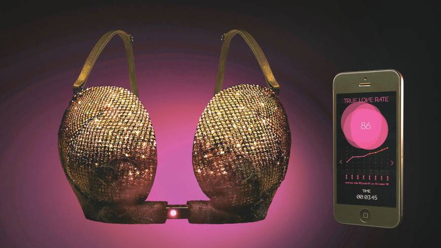 Hands-free: Lingerie maker Ravijour's high-tech bra, True Love Tester, has a special hook that a mobile device app can control.