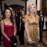 Paper tiger?: Amy Chua (left) and Arianna Huffington, founder of the Huffington Post, attend the Bloomberg Vanity Fair White House Correspondents' Association dinner afterparty in Washington in April 2011. | BLOOMBERG