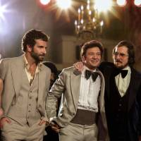 Oscar bait: This film image released by Sony Pictures shows (from left) Amy Adams, Bradley Cooper, Jeremy Renner, Christian Bale and Jennifer Lawrence in a scene from 'American Hustle.' The film was nominated for 10 Academy Awards, including for best picture, on Thursday. | AP