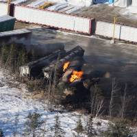 Cracked wheel, broken rail at Canada derailment