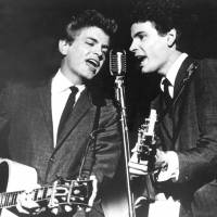 Dream: The Everly Brothers, Don (left) and Phil, perform in July 1964 . Phil Everly, who with his brother Don formed an influential harmony duo that touched the hearts and sparked the imaginations of rock 'n' roll singers for decades died Friday at a hospital in Burbank, California. | AP