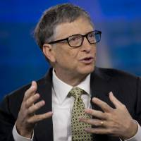 Born optimist?: Billionaire Bill Gates speaks during a Bloomberg Television interview in New York on Tuesday. Gates, the world's richest man, claimed that progress on his goal of eradicating polio by 2018 depended largely on conditions in Nigeria and Pakistan. | BLOOMBERG