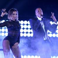 Dynamic duo: Beyonce and Jay-Z perform 'Drunk in Love' at the 56th annual Grammy Awards at Staples Center on Sunday in Los Angeles. | AP