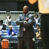 Planting the seeds: Tsukuba Robots coach Dante' Hill, in his second season at the helm, is trying to turn the NBL club into a consistent winner. | KAZ NAGATSUKA