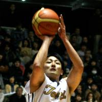 Start of something new: Guard/forward Daiki Tanaka, who wrapped up his college career with Tokai University at the All-Japan Championship, will join Toyota Motors Alvark in February. | KAZ NAGATSUKA