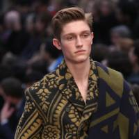 Burberry Prorsum focused on autumnal colors and bold prints in its runway show at the London Collections: Men autumn-winter 2014 event. | AP