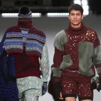 Get knitted: Sibling revealed some unusual knitwear combinations at this season's London Collections: Men | AP