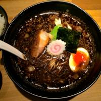 A quick firing in the kitchen gives Gogyo's ramen a deep black hue and smoky flavor. | ROBBIE SWINNERTON