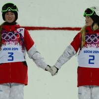 Dufour-Lapointe sisters bag gold, silver in Olympic moguls