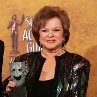Shirley Temple Black poses with the Screen Actors Guild Awards 42st annual life achievement award on Jan. 29, 206, at the 12th Annual Screen Actors Guild Awards, in Los Angeles.  | AP
