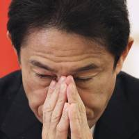 Right-wing statements about WWII not government's view, Kishida says